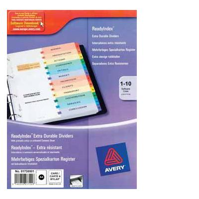 Avery product: READYINDEX 10 TABS