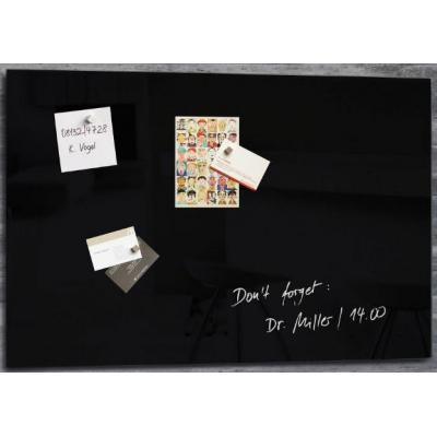 Sigel magnetisch bord: GLASBORD SIG 600X400X15MM ZW  - Zwart