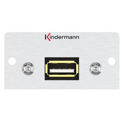 Kindermann 7444000922 Wandcontactdoos - Aluminium