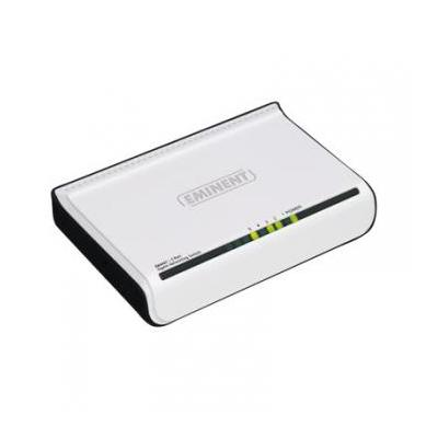 Eminent 10/100/1000 Mbps networking 5 ports Switch - Wit