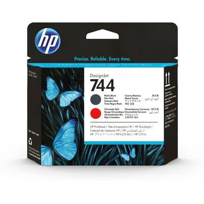 HP 744 Printkop - Chromatisch rood, Mat Zwart