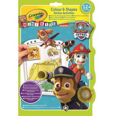 Crayola kleurplaat en boek: Mini Kids - Kleur & stickerboek Paw Patrol