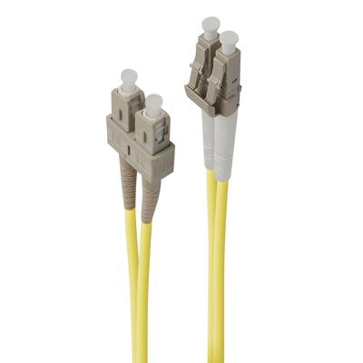 ALOGIC 0.5m LC-SC Single Mode Duplex LSZH Fibre Cable 09/125 OS2 Fiber optic kabel - Geel