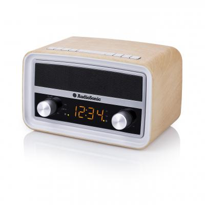 Audiosonic radio: Retro Radio - Zilver, Hout