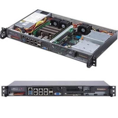 Supermicro SuperServer 5019D-FN8TP Server barebone - Zwart
