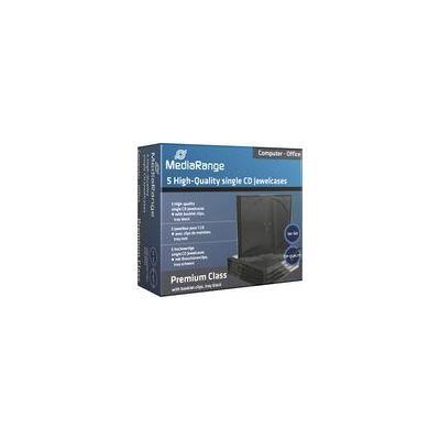 Mediarange : 10,4mm black single retailpack - Zwart, Transparant
