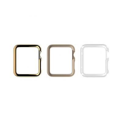 Griffin : For Apple Watch 38mm, Gold pack, 0.5 mm thin - Goud, Transparant, Geel