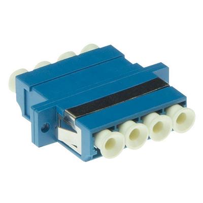 ACT LC-LC quad, OS2, Blauw Fiber optic adapter