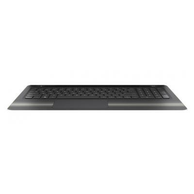 Hp Top Cover & Keyboard (International) notebook reserve-onderdeel - Goud, Zwart