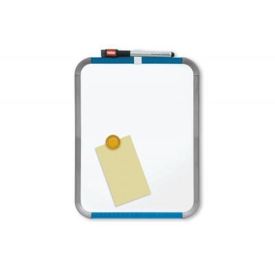 Nobo whiteboard: Slimline Magnetisch Whiteboard 280x220mm Wit - Blauw, Grijs, Wit