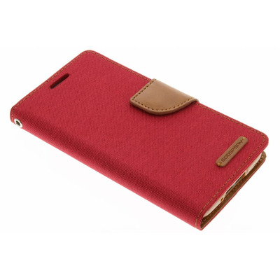 Canvas Diary Booktype Samsung Galaxy S5 (Plus) / Neo - Rood Mobile phone case