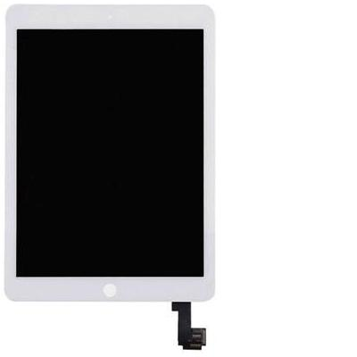 Microspareparts mobile : LCD+touch panel iPad Air 2 - Wit