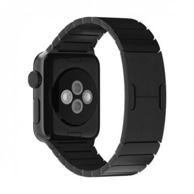 Apple : Schakelarmband, spacezwart (38 mm)