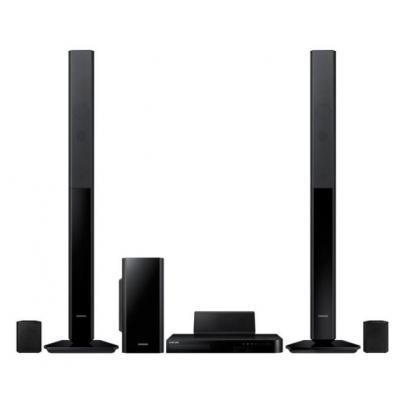 Samsung home cinema system: 1000 W, 5.1 Ch, PAL, BD/DVD/CD/VCD, 3D, Wi-Fi, Bluetooth, USB, HDMI, FM, Black - Zwart