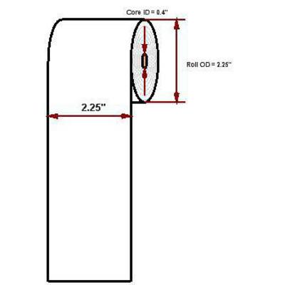 """Datamax o'neil thermal papier: Premium paper, 4.375""""' x 97'"""