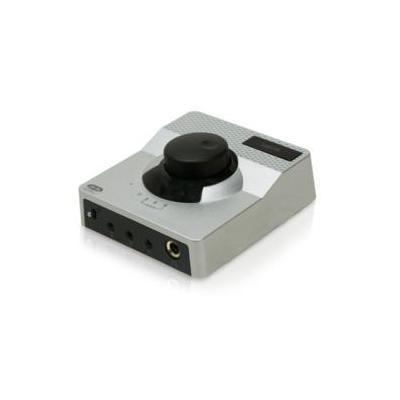 Logilink koptelefoon versterker: 89 x 103 x 28 mm, 96 KHz/24 bit, 3.5 mm Stereo Line-in - Zilver