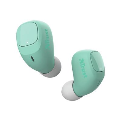 Trust Nika Compact - Volledig Draadloze Oordopjes -Bluetooth - Mint Headset - Turkoois