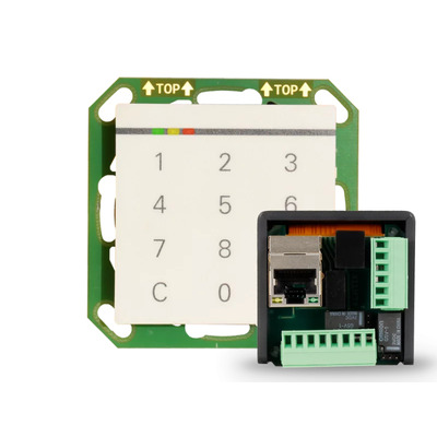 Kentix StarterSet DoorLock-WA3-IP network reader Flush-Mount (MIFARE® DESFire) - Zwart,Wit
