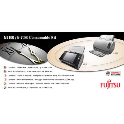 Fujitsu Sets met verbruiksartikelen voor N7100, fi-7030 Printing equipment spare part - Multi kleuren