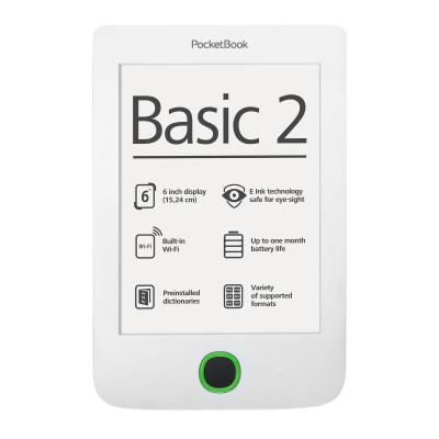 Pocketbook e-book reader: Basic 2 - Grijs, Wit