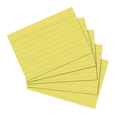 Herlitz index card A6 ruled yellow 100 pieces Indexkaart - Geel