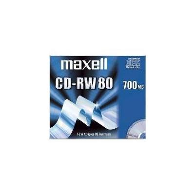 Maxell CD: CD-RW 80 700MB Silver 1-4X, 10-Pack