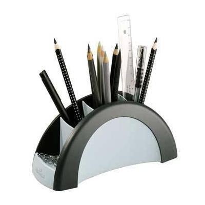 Durable houder: Pen Holder VEGAS - Zwart, Wit