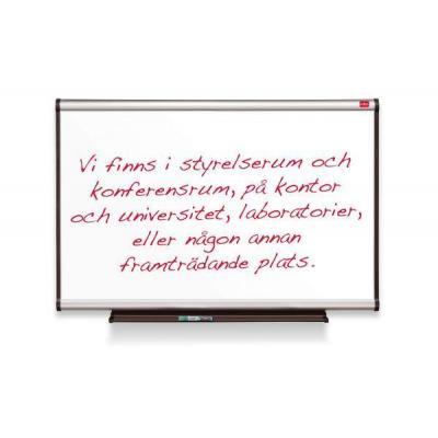 Nobo magnetisch bord: Prestige Whiteboard Magn. Emaille Alu Lijst 900x600mm - Zilver, Wit