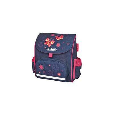 Herlitz : Mini Softbag Butterfly - Navy, Roze