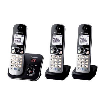 Panasonic KX-TG6823 dect telefoon - Zwart, Zilver