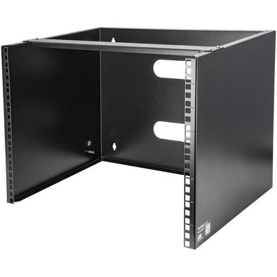 """StarTech.com Wand monteerbaar voor 12""""/30 cm apparatuur wandkast massief staal 8U Rack - Zwart"""