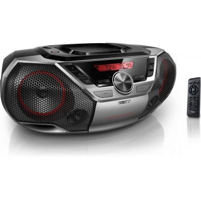 Philips CD-radio: RMS 12W, Bluetooth, NFC, Aux in, USB - Zwart, Zilver