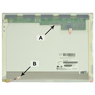 "2-power notebook reserve-onderdeel: 38.1 cm (15 "") XGA 1024x768 CCFL1 Matte - Wit"