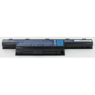 Acer batterij: 6-Cell 4400mAh Li-Ion - Zwart