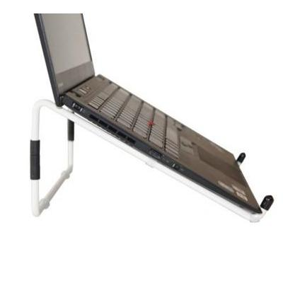R-go tools multimedia kar & stand: Travel Laptopstandaard Wit