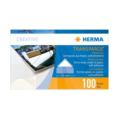 Herma fotosticker: Transparol photo corners, extra large double strips 100 pcs.