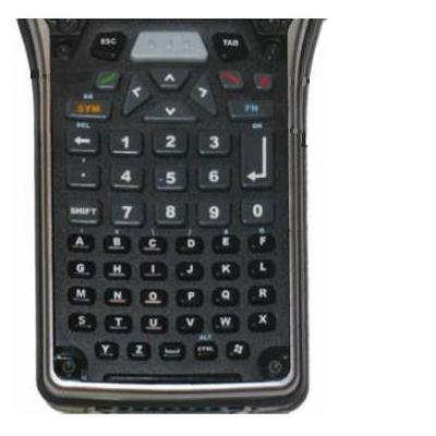 Zebra : 55 Key Alpha Numeric, black - Zwart