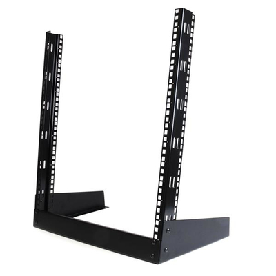 Startech.com rack: 12U 19 inch Desktop Open Frame 2 Post Rack - Zwart