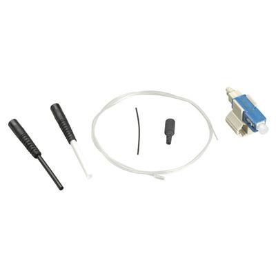 Black Box Pre-Polished Fiber Optic Connector - OS1, Singlemode, SC, Blue, 6-Pack - Blauw