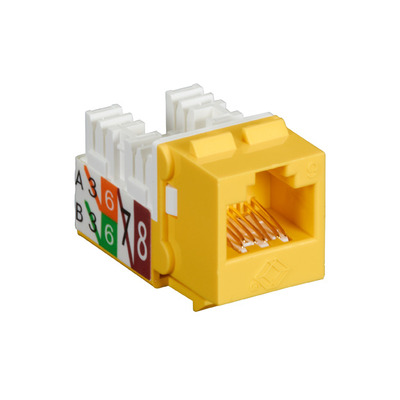 Black Box GigaTrue2 CAT6 Jack, Universal Wiring, Component Level, Single-Pack, Yellow - Geel