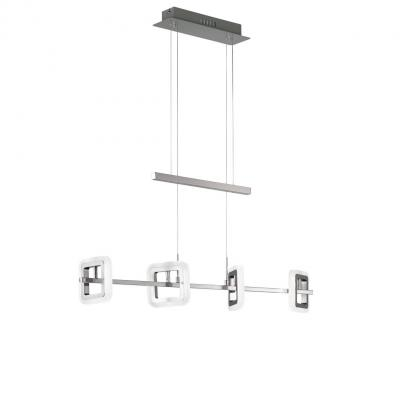 Wofi suspension lighting: DAVIS - Chroom, Nikkel, Wit