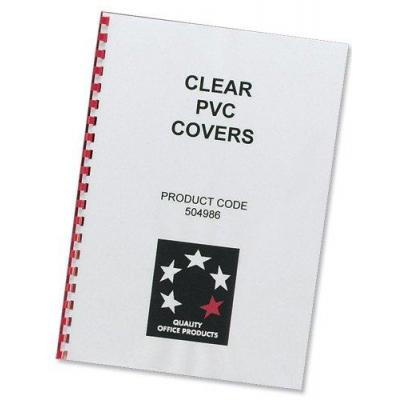 5star binding cover: (A4) Comb Binding Covers PVC 150 micron (Clear), Pack of 100 - Transparant