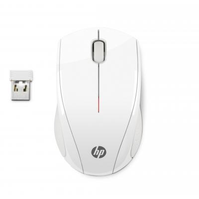 Hp computermuis: X3000 White Wireless Mouse - Wit