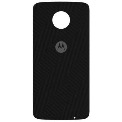 Lenovo mobile phone case: Mods Back Cover - Herringbone Nylon - Zwart