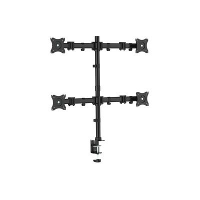 """Equip 13 - 27"""", 8 kg, 100x100/75x75 VESA Monitorarm - Zwart"""