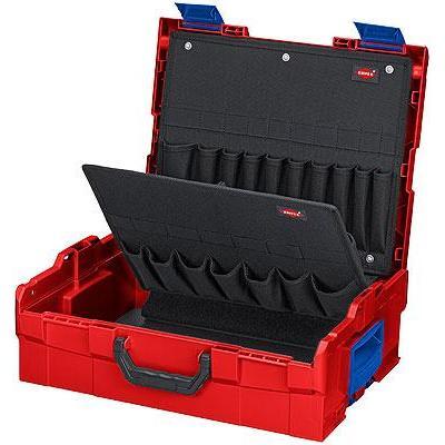 Knipex L-BOXX leeg - Zwart, Blauw, Rood