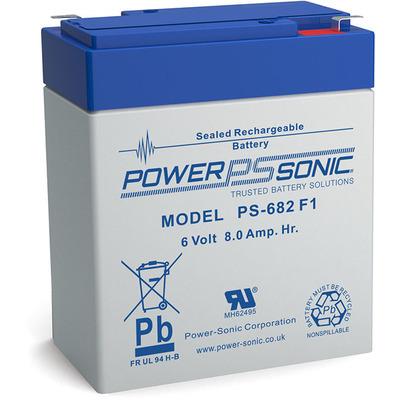 Power-Sonic PS-682 UPS batterij - Blauw, Grijs