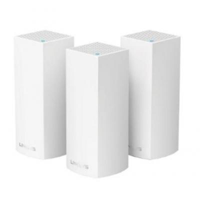 Linksys wireless router: Velop Tri-Band AC6600 Mesh Starter Kit (3-Pack) - Wit