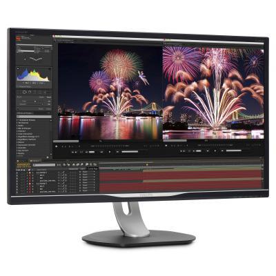 Philips Brilliance LCD-met USB-C-dock 328P6AUBREB/00 Monitor - Zwart