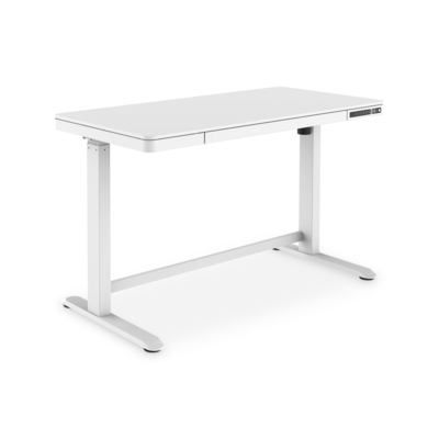 Digitus Electric height-adjustable, 120x60x12cm top 50kg load, USB-charging ports, white Desk